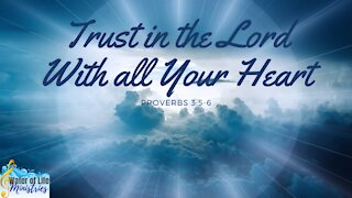 Trust in the Lord With All Your Heart Proverbs 3: 5-6