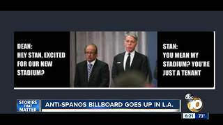 Anti-Spanos billboard goes up in Los Angeles - Video