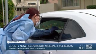 County now recommends wearing face masks