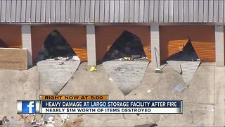 $1 million in damage in public storage fire - Video