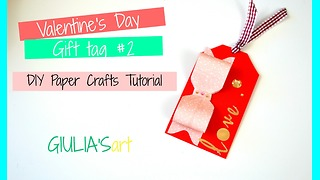 DIY paper crafts: How to make Valentine's Day gift tags - Video