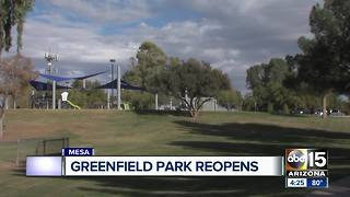 Greenfield Park re-opens with a new, revamped park - Video