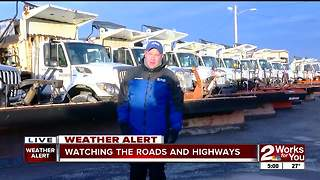 City of Tulsa plows on standby - Video