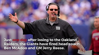 NY Giants Clean House With 2 Big Firings - Video