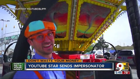 YouTube star Blippi sends impersonator on tour