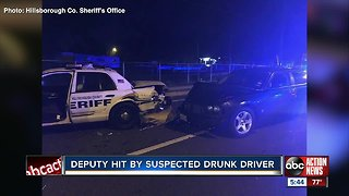 Hillsborough County Deputy hit by suspected drunk driver