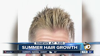 Hair grows faster in the Summer?