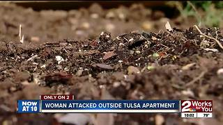 Woman attacked outside Tulsa apartment - Video