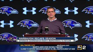 Harbaugh: Mornhinweg to return next season, defensive coordinator hire hopefully soon - Video