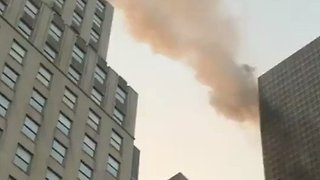 Smoke Billows From Trump Tower in Manhattan - Video