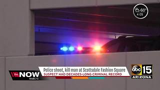 Police: Suspect killed in officer-involved shooting at Scottsdale Fashion Square had criminal history - Video