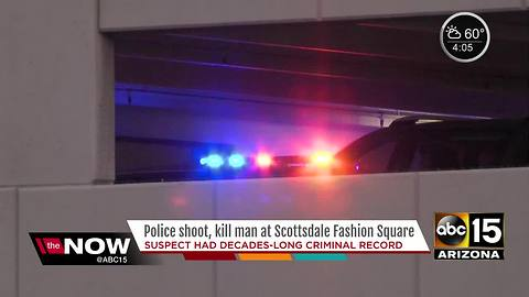 Police: Suspect killed in officer-involved shooting at Scottsdale Fashion Square had criminal history