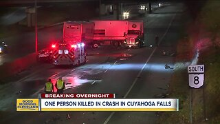 One dead in a possible wrong-way crash in Cuyahoga Falls