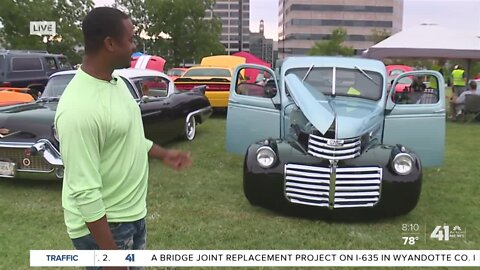 The Great Car Show gets rolling at the WWI Museum lawn