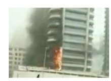 No Injuries Reported After Fire Rips Through Tower in Dubai