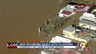 New Richmond waits for Ohio River floodwaters to recede - Video