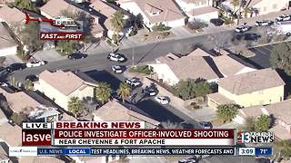 Chopper 13 over scene of shooting involving police - Video
