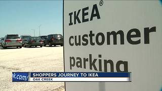 IKEA prepared for traffic on opening day - Video