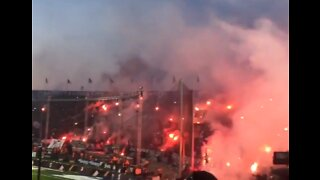 Fans of PAOK Football Club Celebrate First League Title in 34 Years