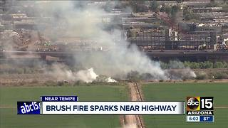 Brush fire sparks near Loop 101 and McKellips Road