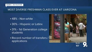 UArizona: Newest class of students will be most 'diverse class ever'