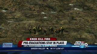 Fast-moving Knob Hill fire now 15 percent contained - Video
