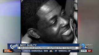 Man accused of setting pregnant girlfriend on fire found not guilty