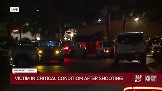 Person in critical condition after being shot in Tampa