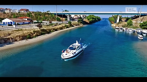 The Canal of Glamour in Greece captured by drone