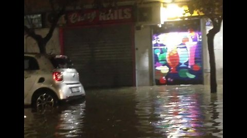 Hail and Heavy Rain Cause Closure of Roads and Metro Stations in Rome