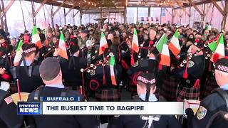 Bagpipers: some of the busiest people on St. Patrick's Day - Video