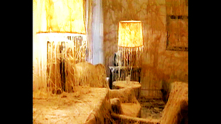 Room Covered In Melted Cheese - Video