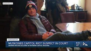 Muskogee Capitol riot suspect appears in court