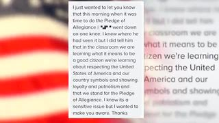 First grader at Pasco County school kneels during Pledge of Allegiance | Digital Short - Video
