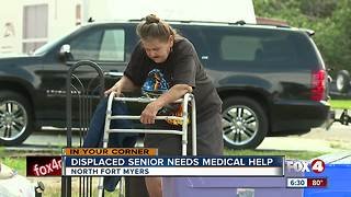 Disabled woman in need of help after being displaced - Video