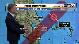 Early Sunday morning updated on TS Philippe - Video