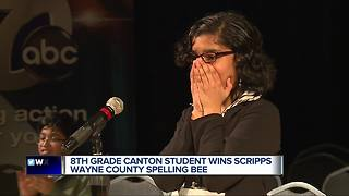 Metro Detroit 8th grader advances to Scripps Spelling Bee - Video