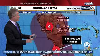 Cat. 4 Hurricane Irma's winds at 155 mph - Video