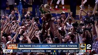 7 Baltimore area college hoops teams gather for Greater Baltimore Basketball Media Day - Video