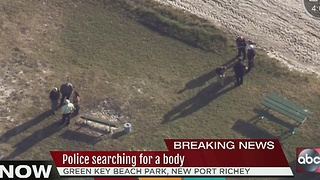 Police searching for a body - Video