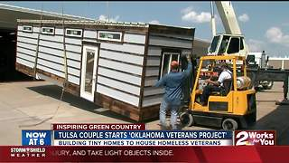 Green Country couple starts nonprofit to build tiny homes that will house homeless veterans - Video