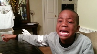Crying Boy Is Stressed Because His Brother Ate His Brain - Video