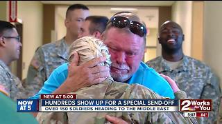 Hundreds help send-off Green Country soldiers - Video