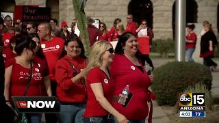 Arizona teachers rallying for vote on statewide walkout - Video