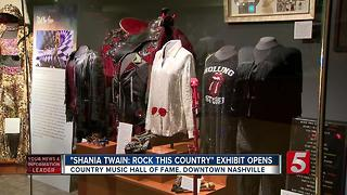 Shania Twain Exhibit To Open At Country Music Hall Of Fame - Video