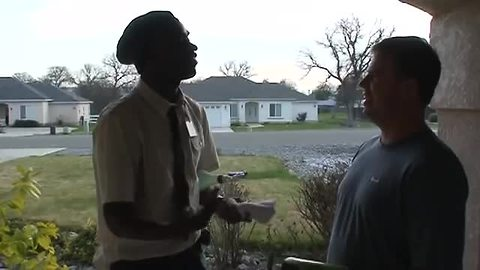 We Will Buy Whatever This Door-To-Door Salesman Will Try To Sell Us