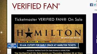 Fans have chance to score 'Hamilton' tickets early - Video