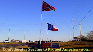 2021 Confederate Flagging , 2 Flags and 3 Banners