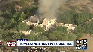 FD: Resident taken to hospital after fire at south Phoenix home - Video