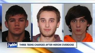 Three teenagers charged with homicide after 18-year-old dies of overdose - Video